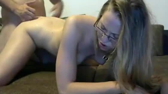 Gorgeous Amateur Girl With Glasses Gets Fucked Hard From Behind