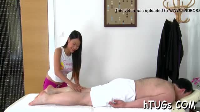 This moist asian gal gives the hottest massages ever